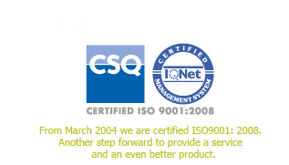 ISO 9000 certification of Graffietti Stampati typography – www.graffietti.it