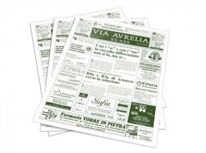 "Immagine stampa giornale ""Via Aurelia"""