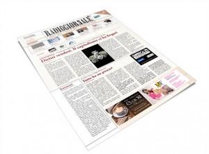 """Foto della stampa del giornale """"Radiogiornale"""""""